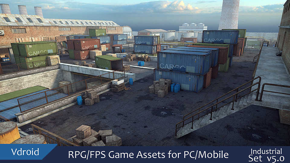 RPG/FPS Game Assets for PC/Mobile Industrial v5 0