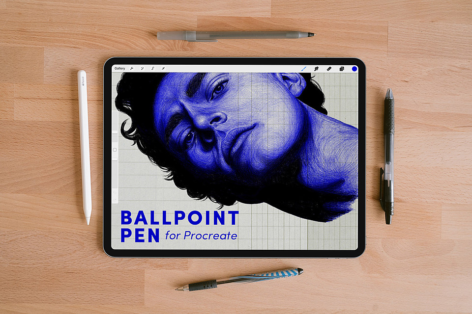 Ballpoint Pen – Free Procreate Brush on Cubebrush.co