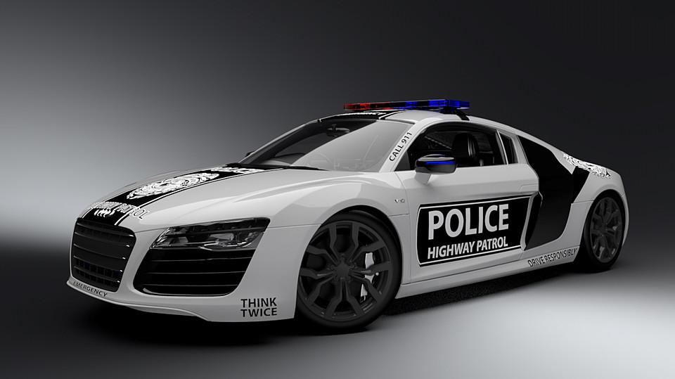 2016 Rigged Police Audi R8