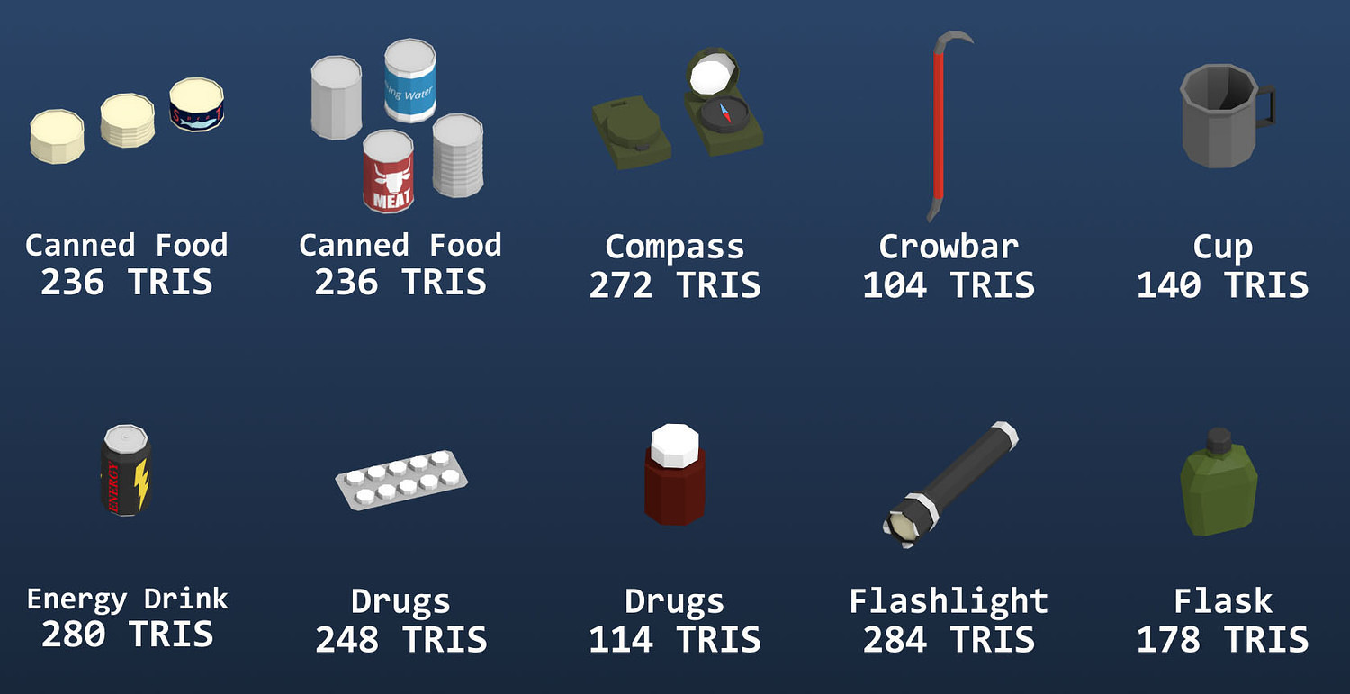 Low Poly Survival Props Pack