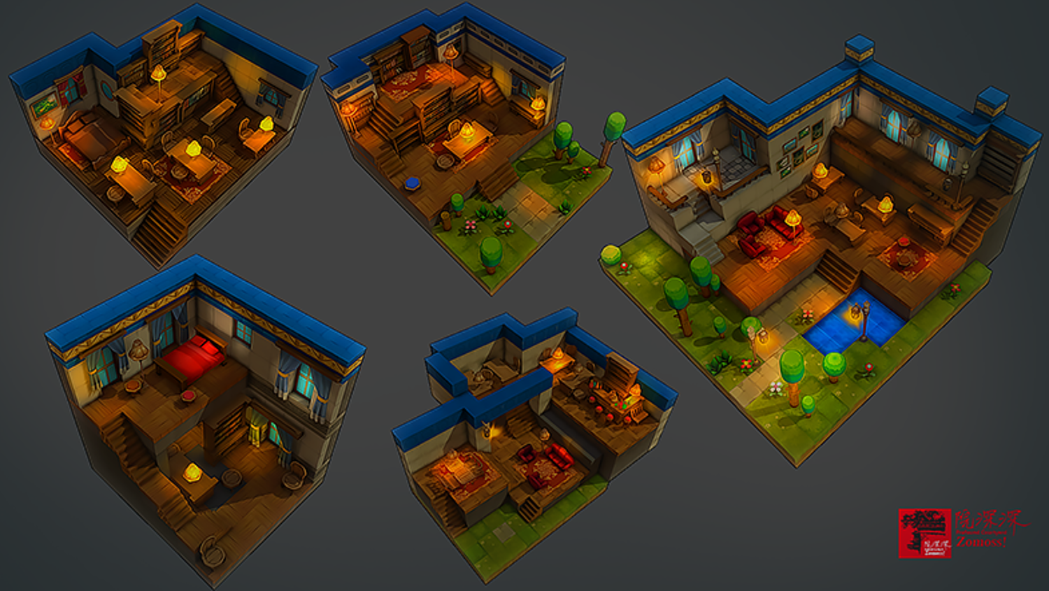 Z ! Isometric Interiors 3D