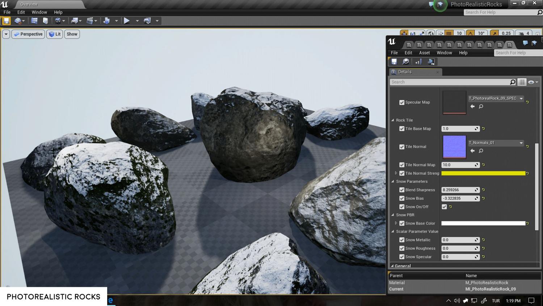 Photorealistic Rocks - UE4