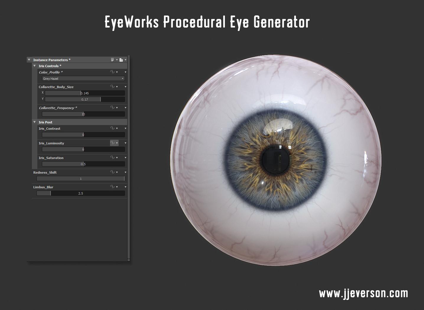 EyeWorks Procedural Eye Generator