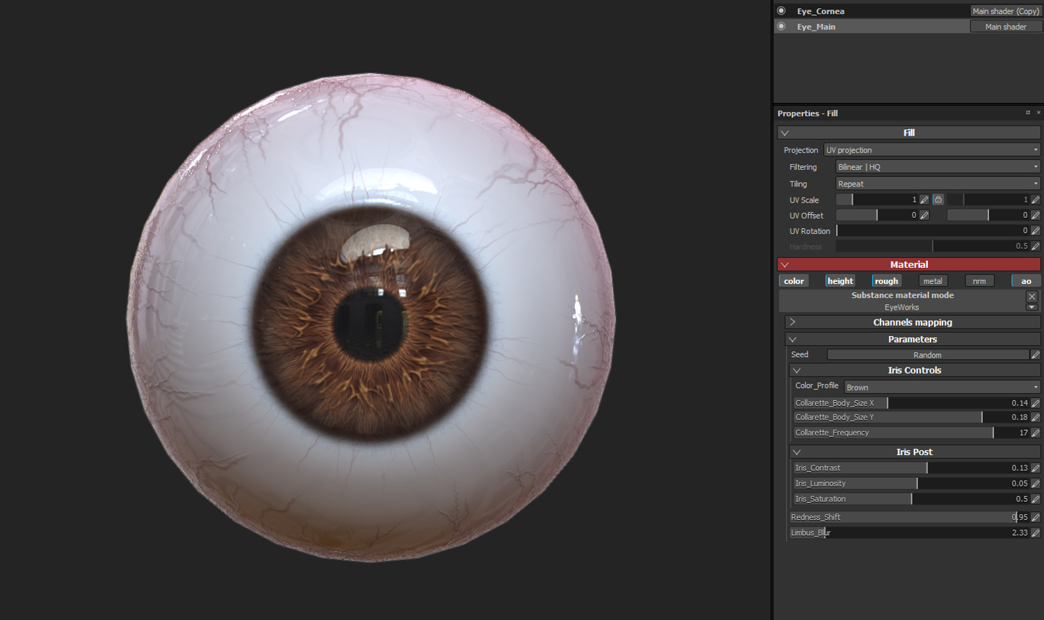 EyeWorks Procedural Eye Generator