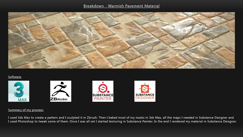 Tutorial - Warmish pavement Material