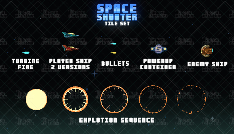 Space Shooter Tile Set