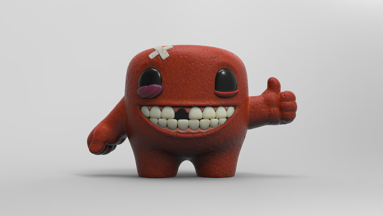 Perfect Super Meat Boy 3D print model QY06
