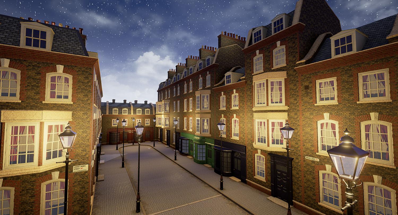 London Street Environment Unreal Engine 4