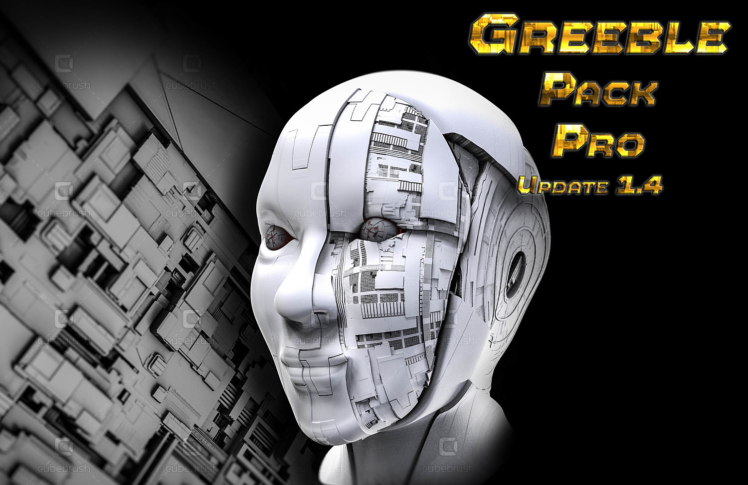 Greeble Pack Pro for Zbrush 4R8/Zbrush 2018/2019