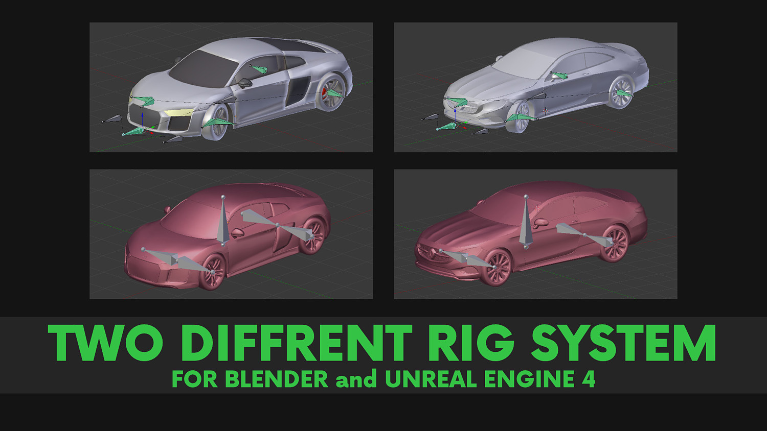 Audi and Mercedes Pack-Rigged Car Models