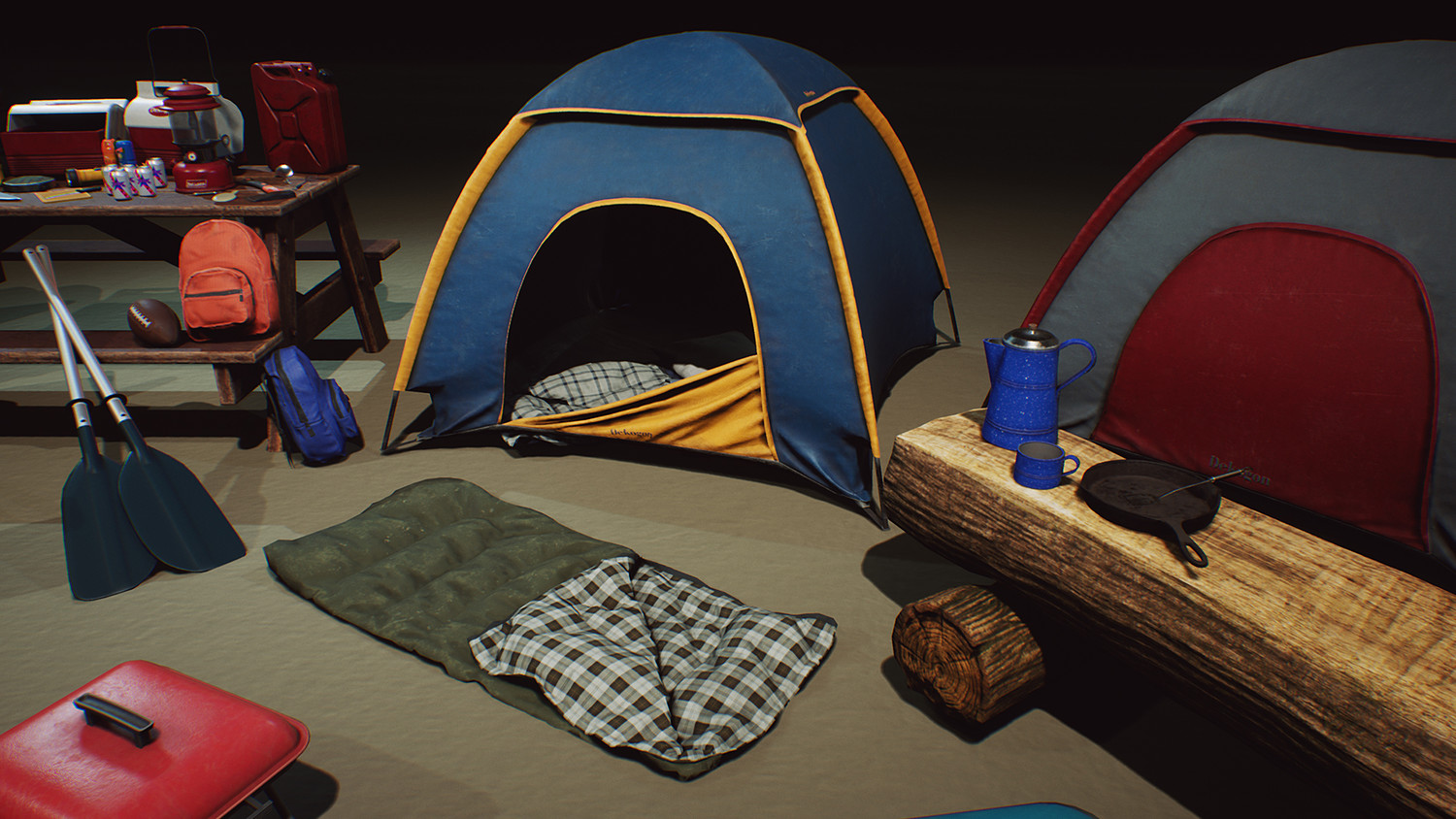 Camping and Outdoor Props VOL  1 [UE4+Raw]