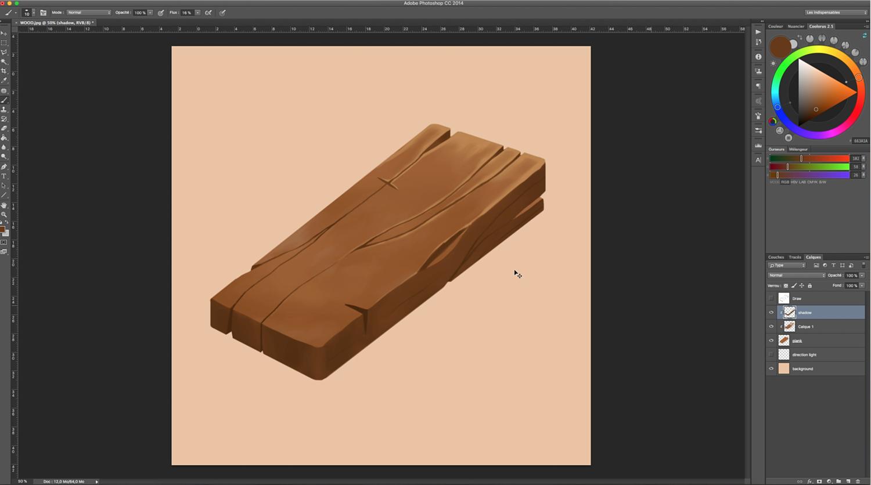 Wood digital painting tutorial 7 baditri Image collections