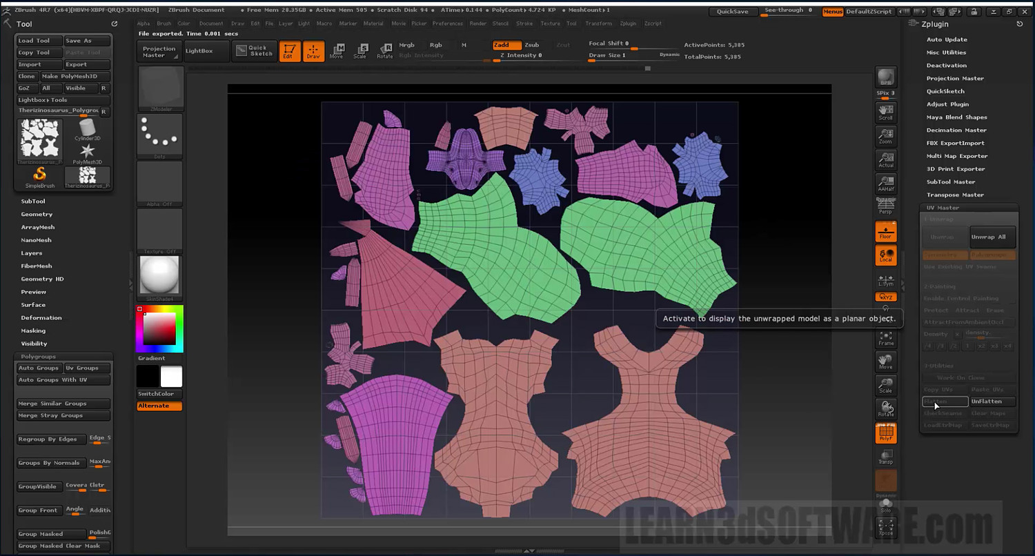 Zbrush Bootcamp- Volume #10- UV Mapping II
