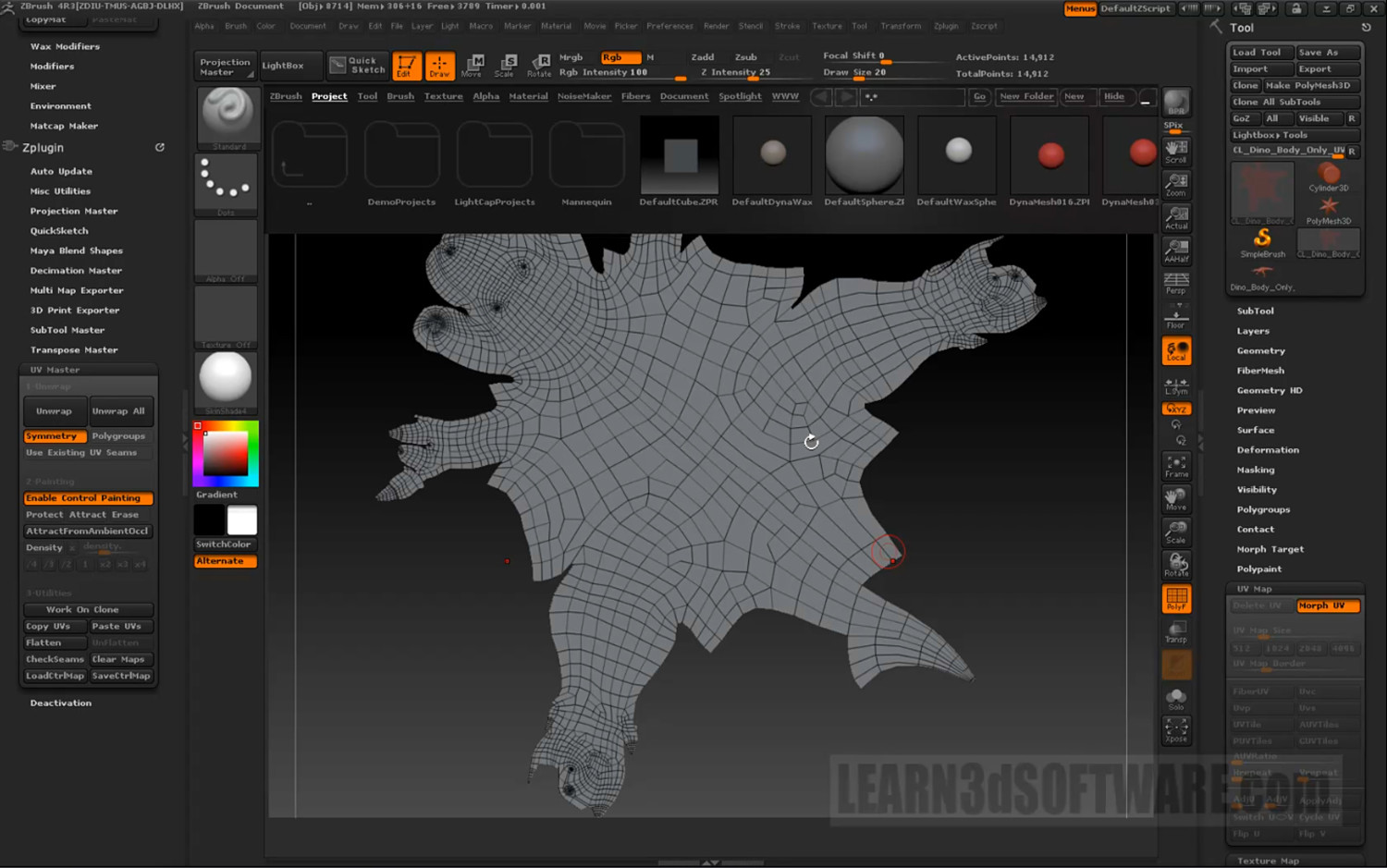 GoZ for Lightwave 11 and ZBrush Users- UV Maps