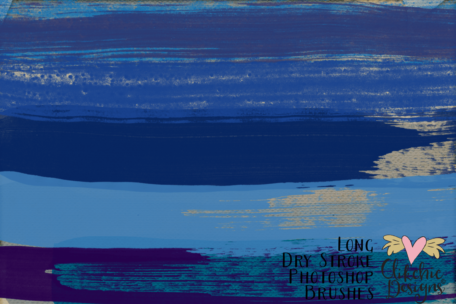 long dry watercolor strokes photoshop brushes