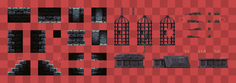 Metroidvania Dungeon - Pixel Art Asset Pack