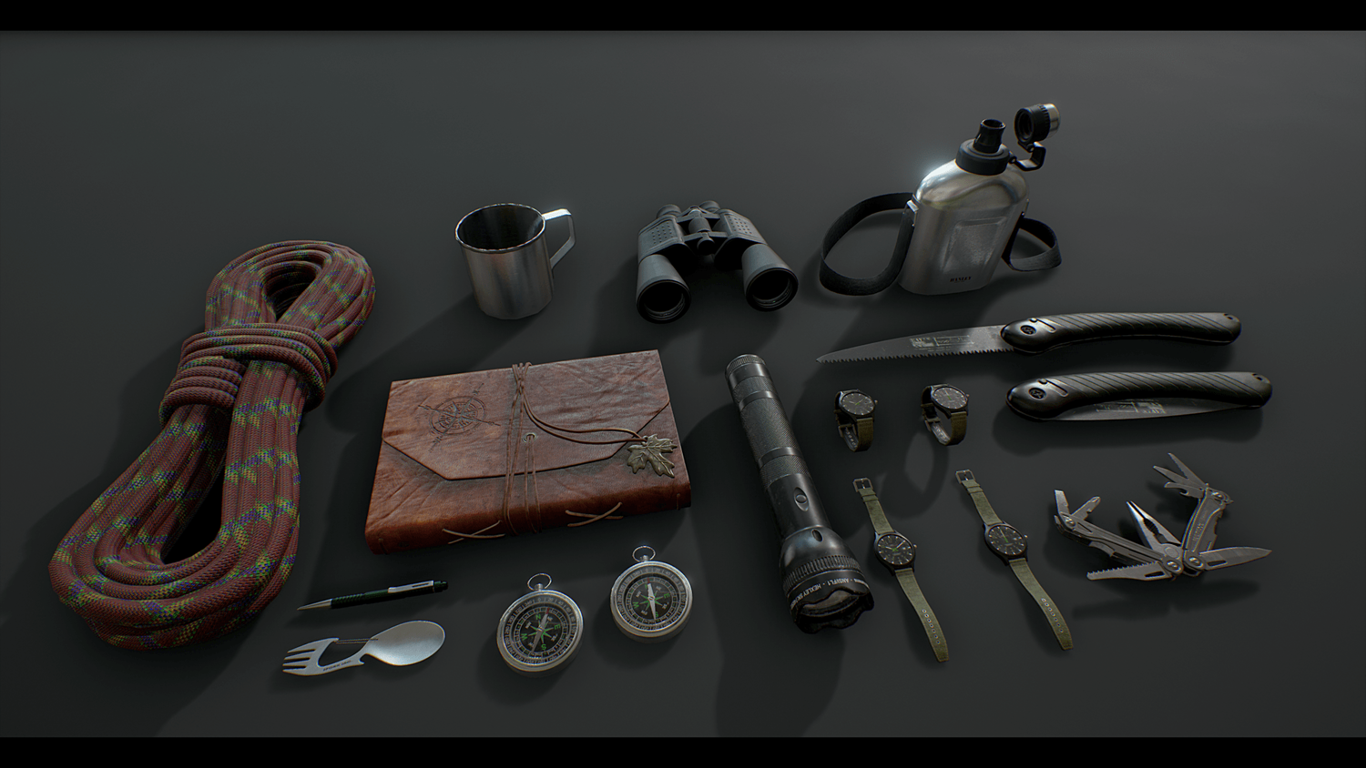 Explorers Survival Kit and Tools