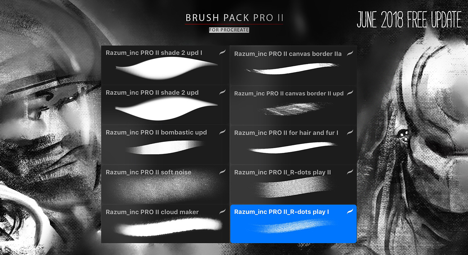 Brush pack Pro II for Procreate Ipad
