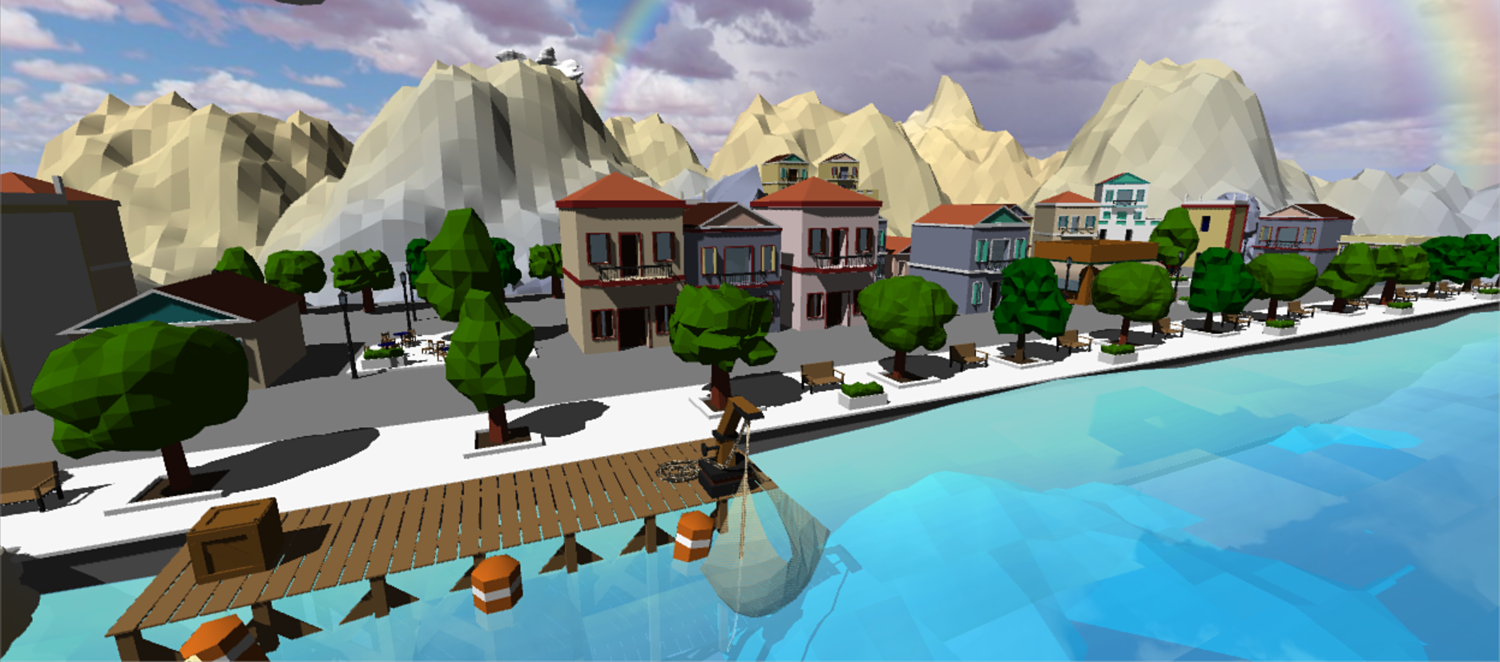 Low Poly Greek Island for Unity 3D
