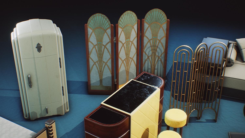 Art Deco Props COMBO PACK [UE4+Raw]