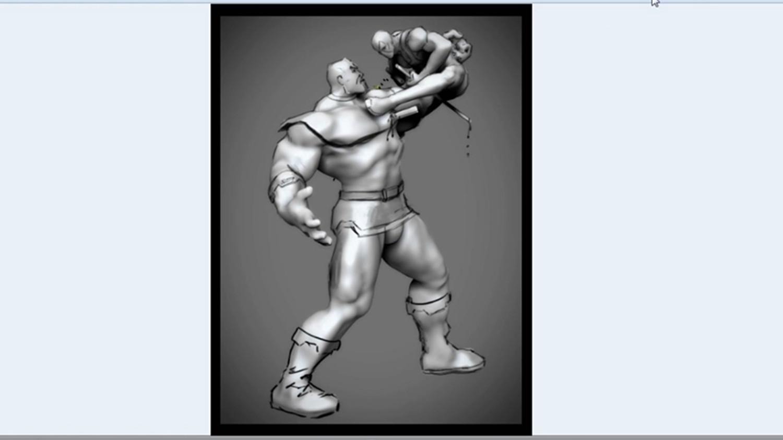Vol  1 Thanos vs Deadpool En: 3D Sketch / Zbrush