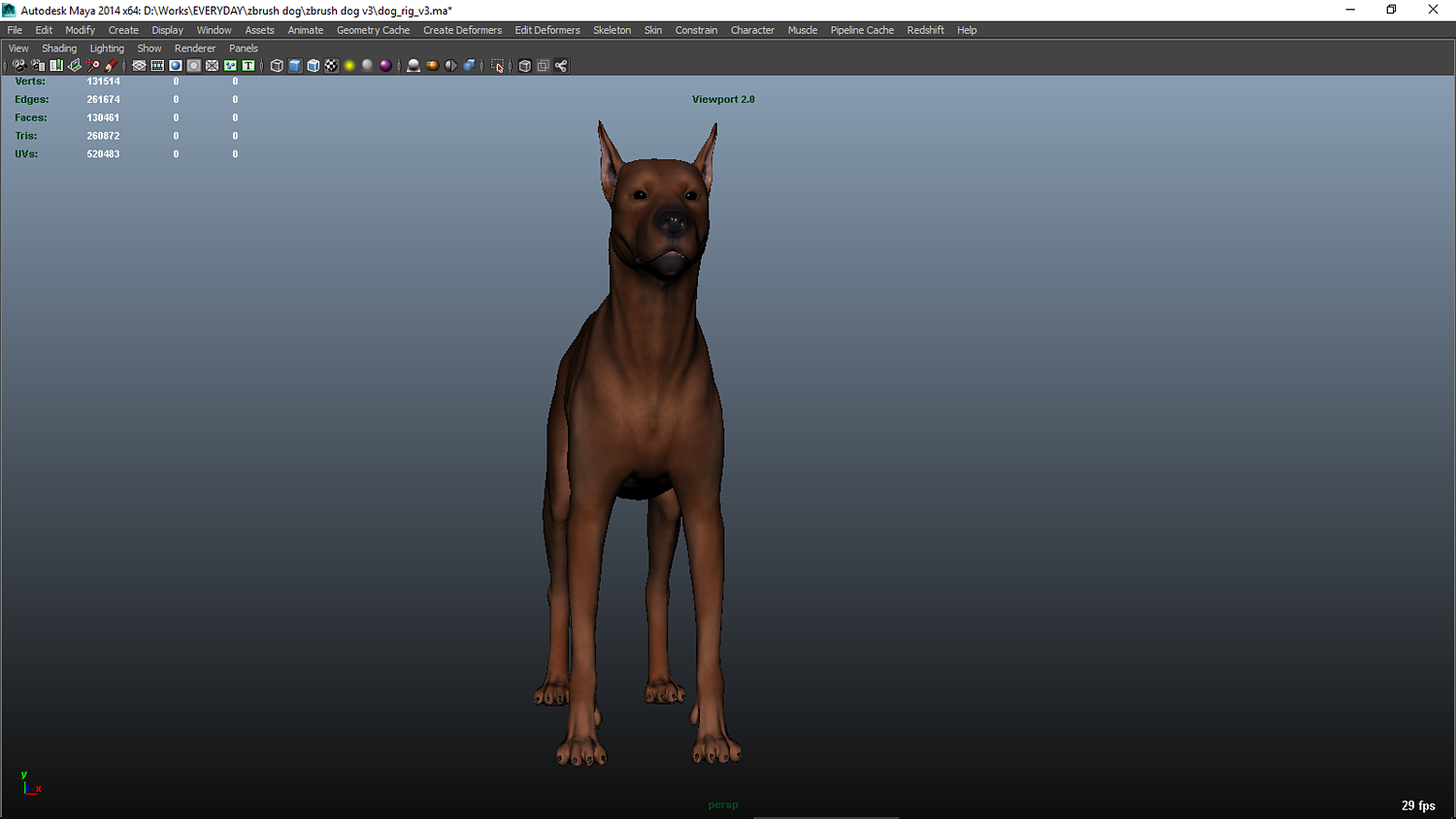 German Pinscher Dog Maya Rig