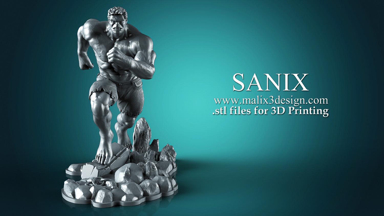 Hulk 3D Print Ready Model