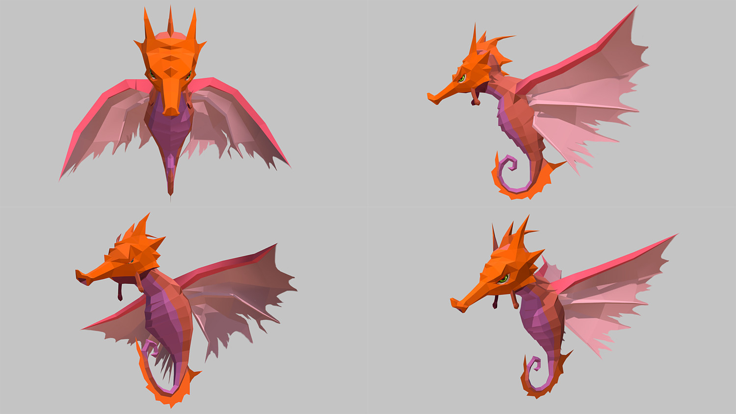 Low Poly Monster Cartoon Collection 03 Animated
