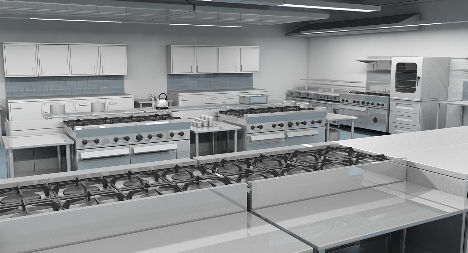 Commercial Kitchen 3D Model