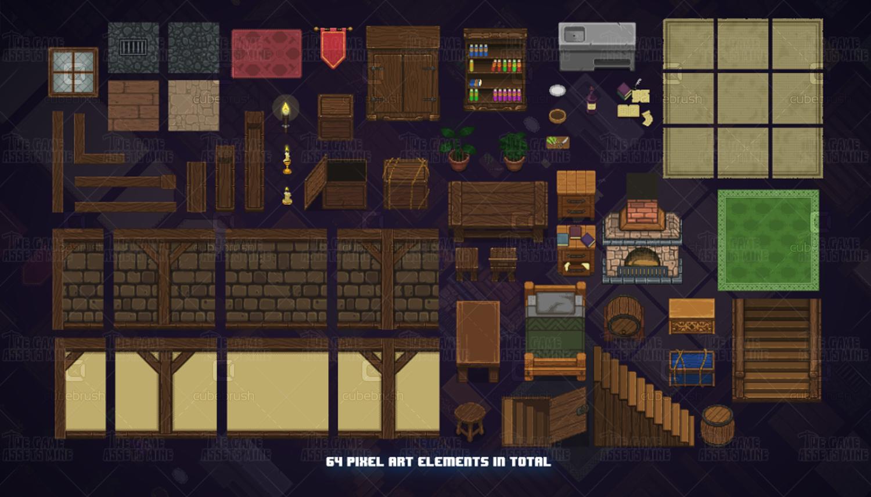 pixel art medieval interiors rh cubebrush co