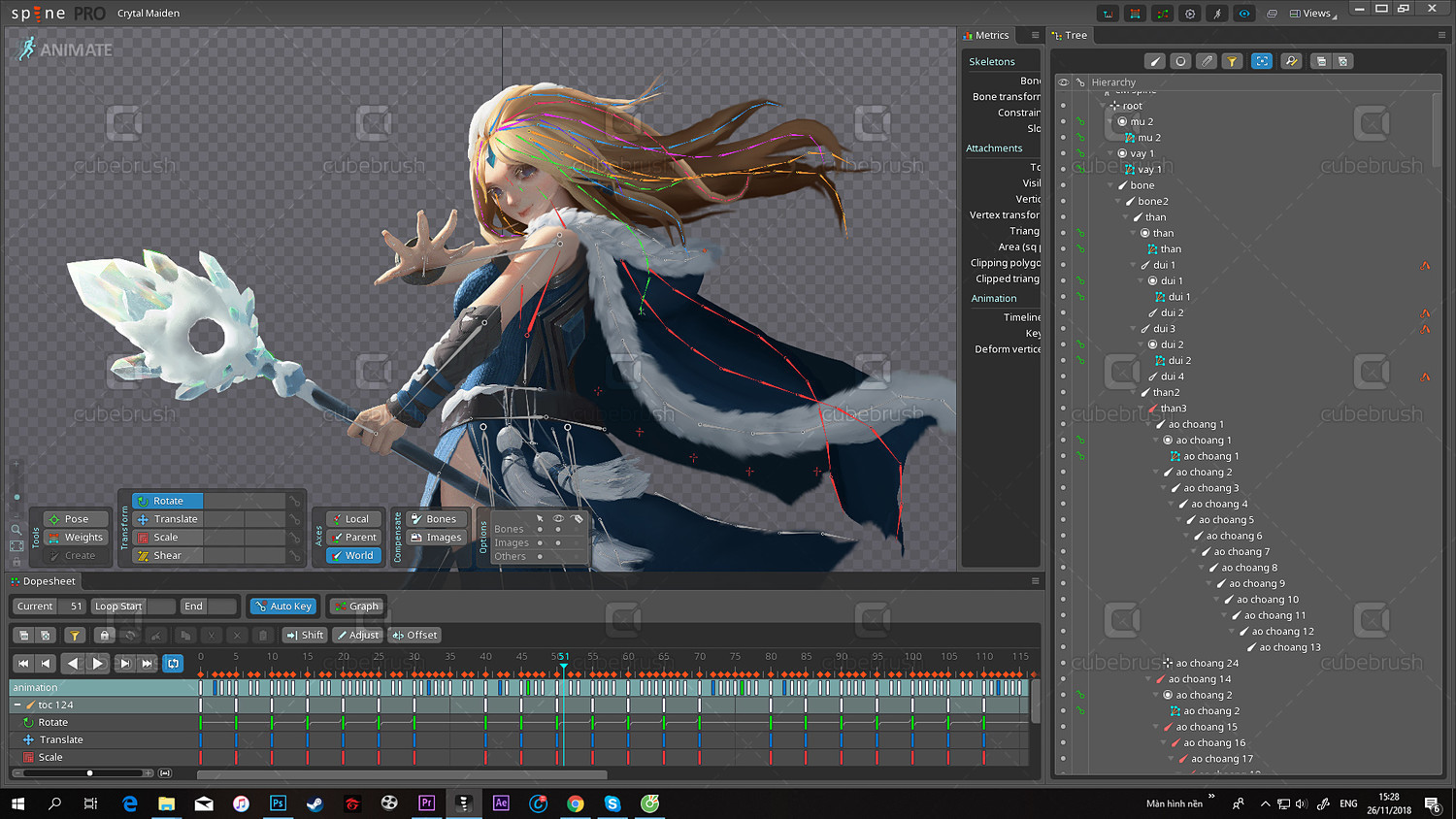 Crystal Maiden: assets SPINE animation