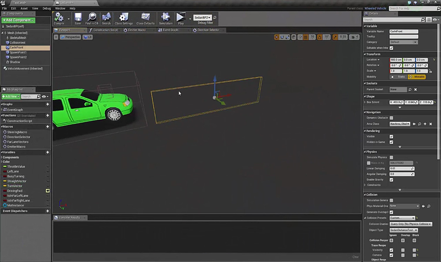 Dynamic Vehicle Setup in Unreal 4
