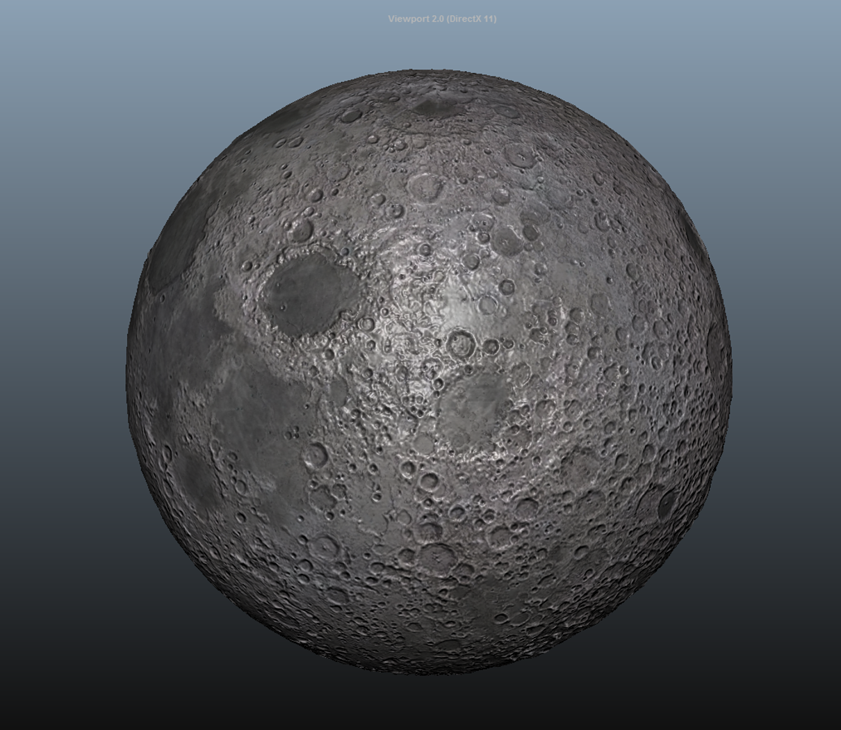 Moon planet - Normal map mid poly - 8K Res