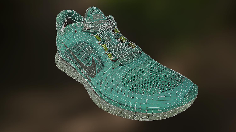 6dd5d2e7376a Worn Nike Free Run 3 shoes low poly