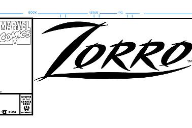 Zorro Comic Book Cover Template