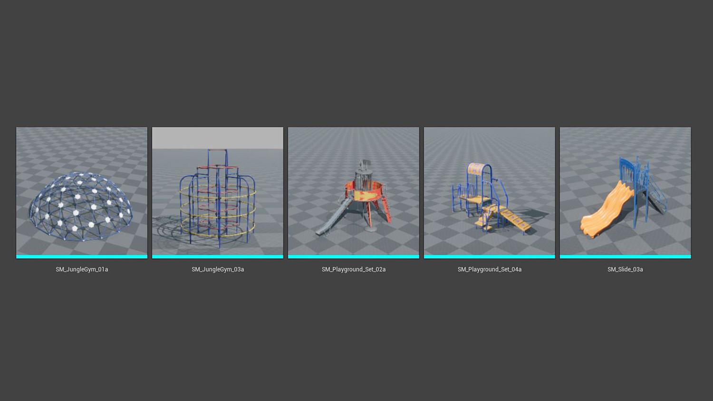 Playground Props COMBO PACK [UE4+Raw]