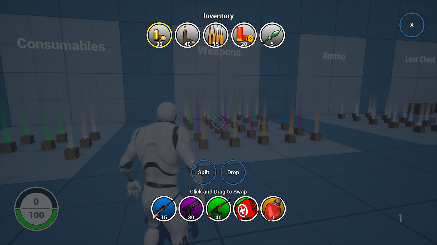 UE4] Inventory for Battle Royale