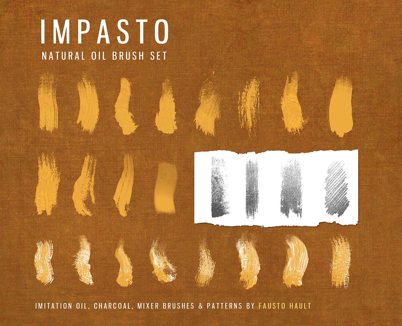 Impasto oil imitation brush set V1 1