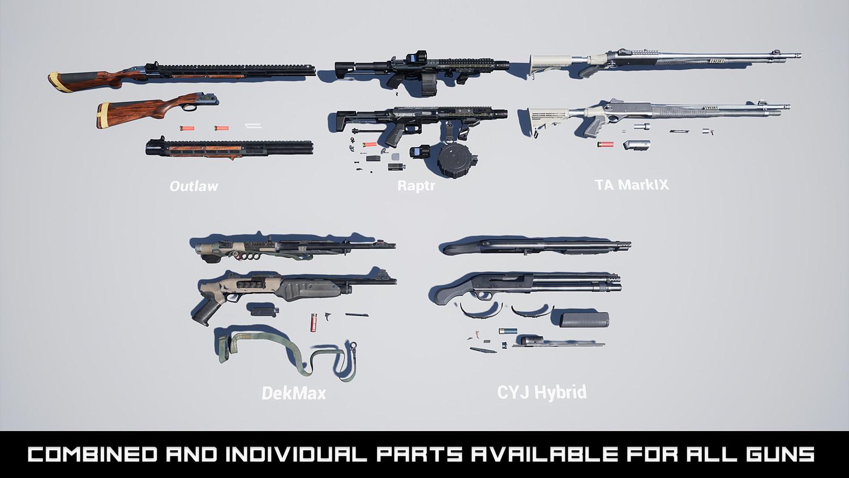 Modern Shotgun Weapons FPS VOL 1 [UE4+RAW]