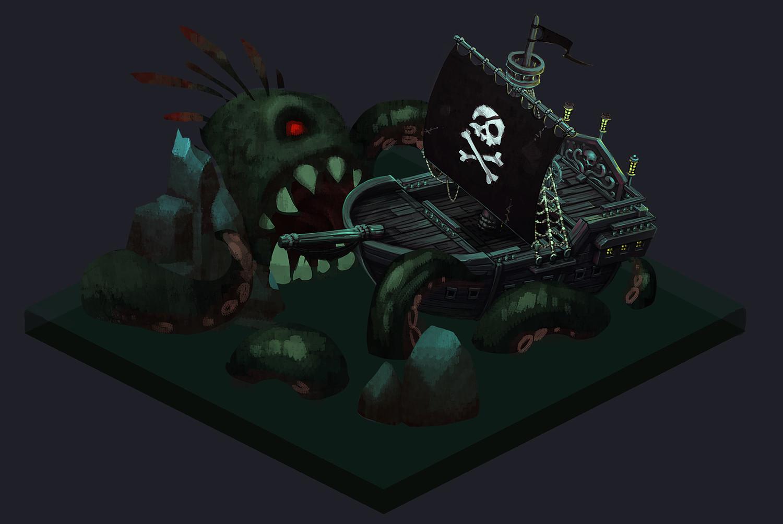 Isometric Pirate Ship Tutorial Pack