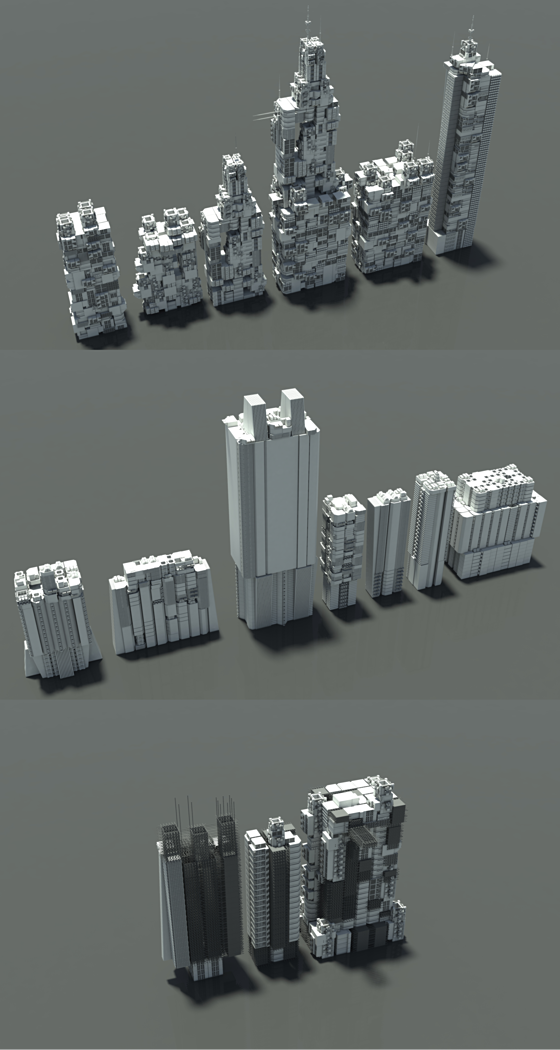 Kitbash Sci-fi Buildings & Modules Vol 1
