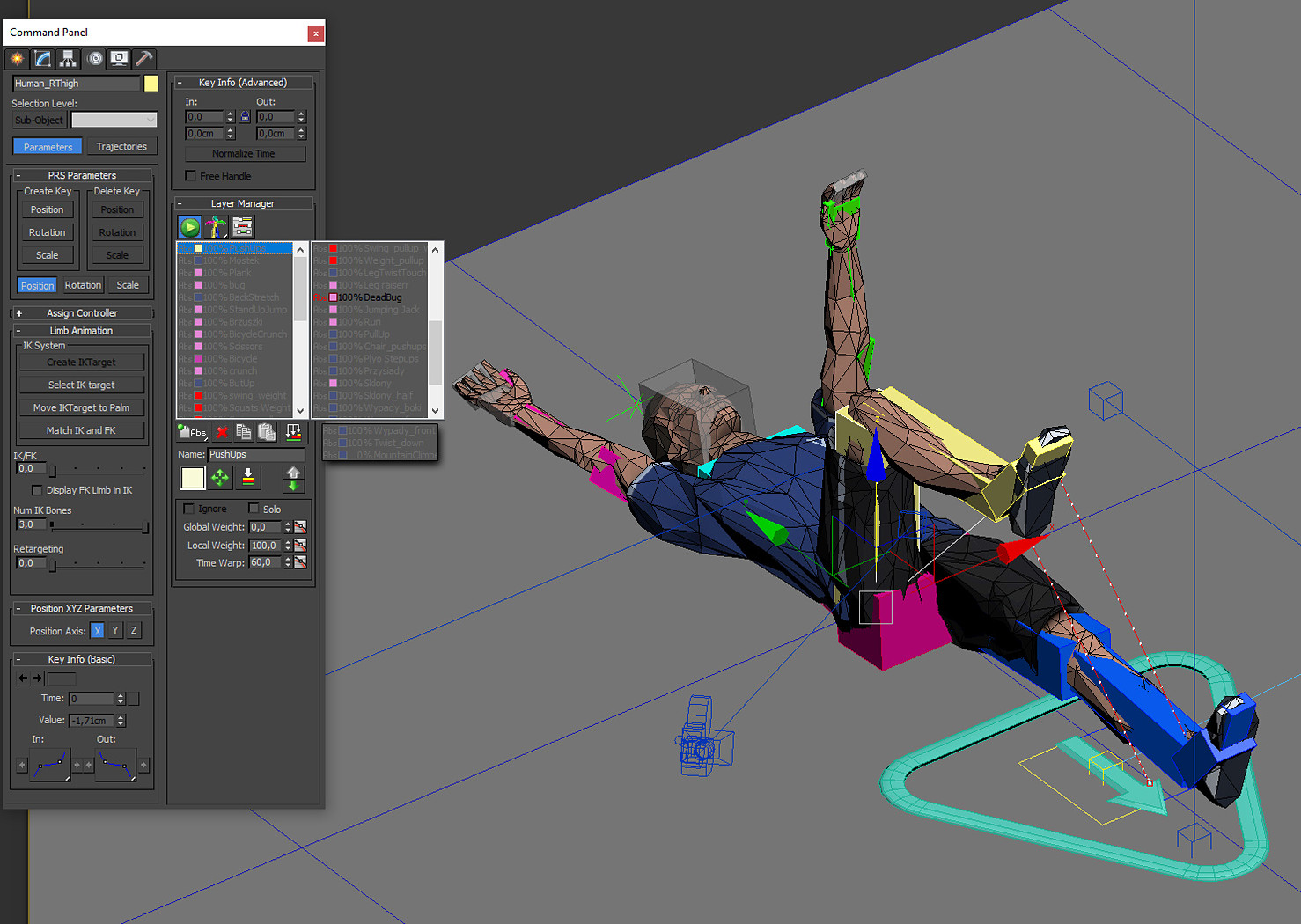 Exercise Animations Bundle Low-poly 3D model