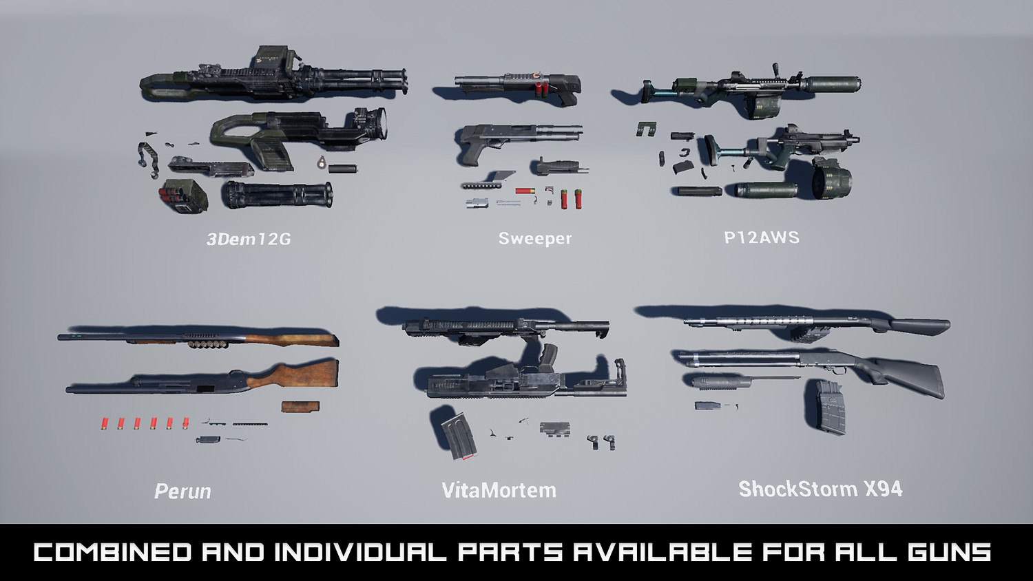 Modern Shotgun Weapons FPS VOL 3 [UE4+RAW]